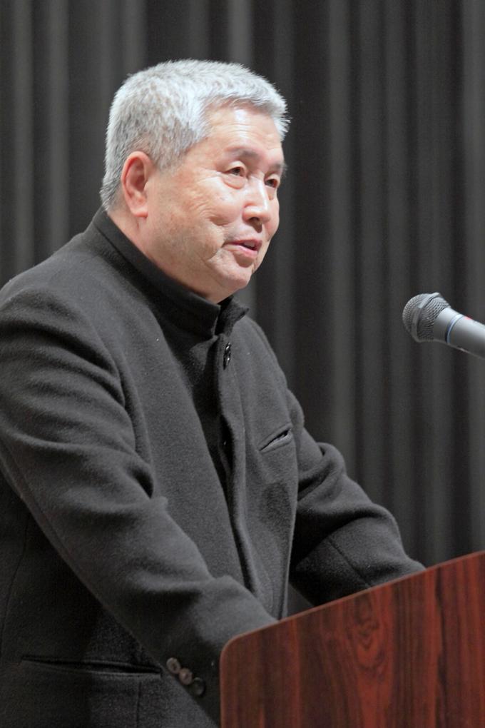 イム・グォンテク(林権澤)監督の講演の様子